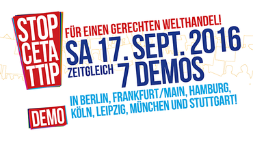 17. September 2016 TTIP-Demo