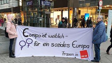 Frauen Aktion Frauentag Hannover Europa Europawahl IFT 2019