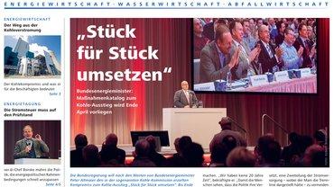 Report Magazin Ver- und Entsorgung, Cover Ausgabe 01/2019