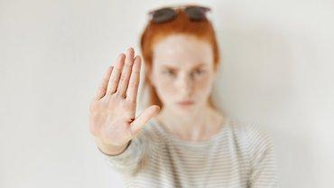 Frau Stop Abwehr Gegenwehr Nein