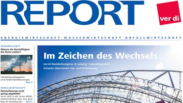 Report Magazin Ver- und Entsorgung, Cover Ausgabe 03/2019