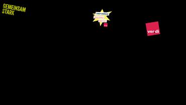 Protest Aktion Energie ver.di Logo gemeinsam stark Illustration