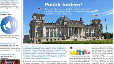 Report Magazin Ver- und Entsorgung, Cover Ausgabe 02/2021